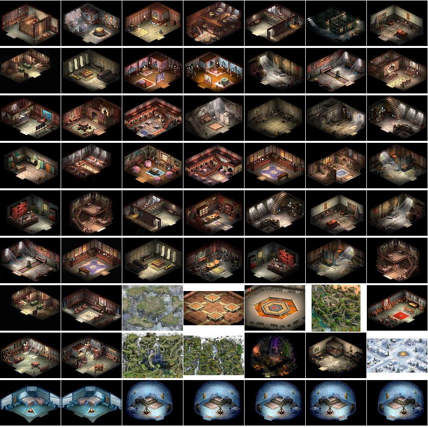 素材-《大话西游2》全部地图全景