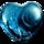 心语蓝水晶徽章